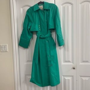 Vintage London Fog Trench Coat- Stunning Green